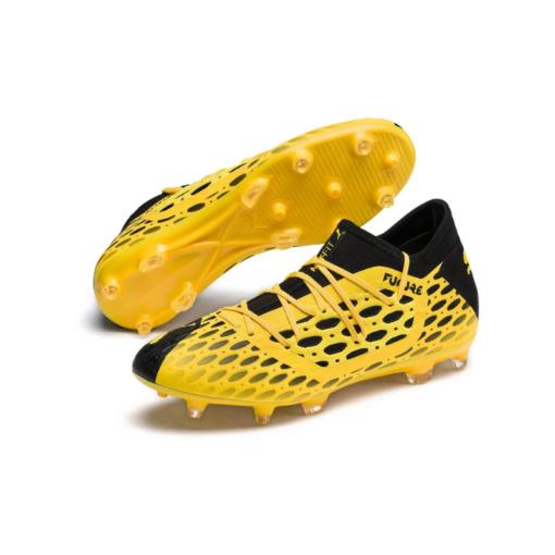 PUMA Future 5.3 Netfit FG-AG Fußballschuhe gelb schwarz herren 1