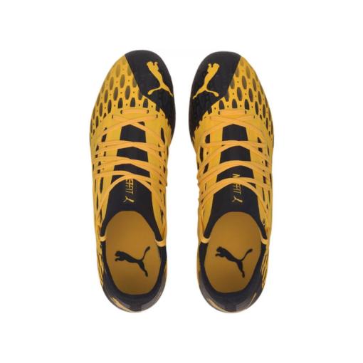 PUMA Future 5.3 Netfit FG-AG Fußballschuhe gelb schwarz herren 2