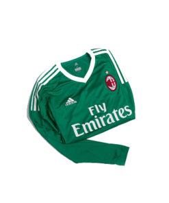 adidas ac milan 2017-2018 home tw trikot grün