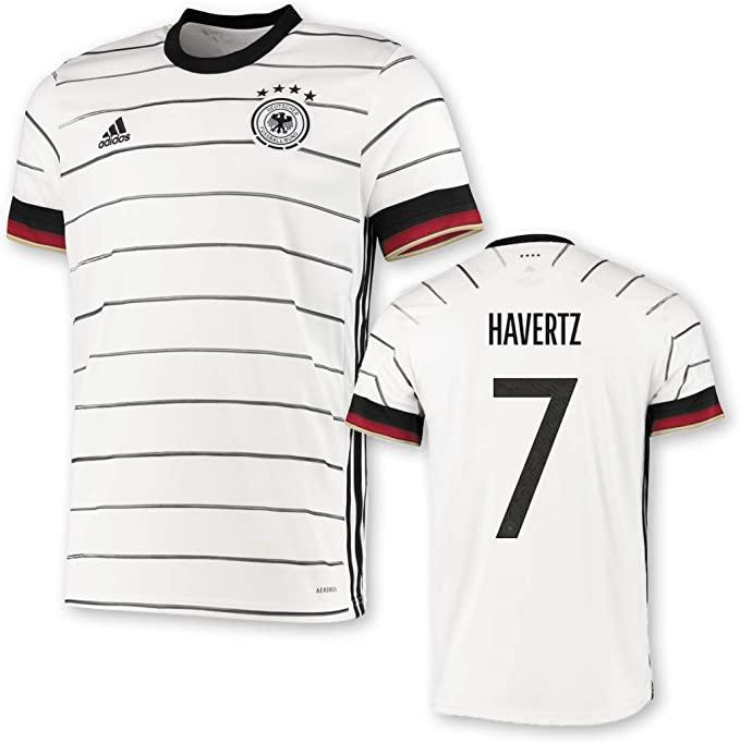 Kai Havertz Flock Set Player Size DFB Deutschland EM 2020 wie Matchworn Trikot