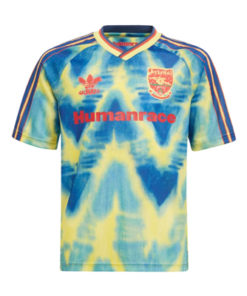 adidas arsenal london human race trikot kinder blau-gelb