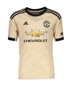 adidas manchester united away trikot konder 19-20 gold