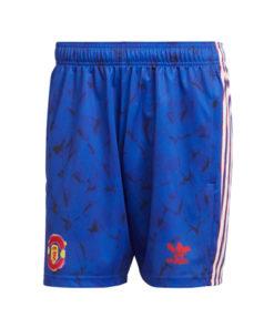 adidas manchester united human race shorts herren blau