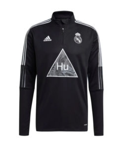 adidas real madrid human race trainingstop herren schwarz