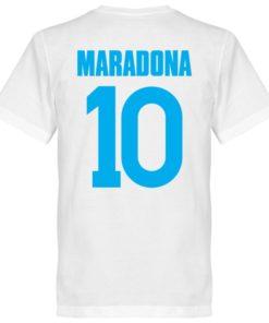 maradona t-shirt napoli weiss