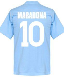 maradona ssc neapel t-shirt hellblau