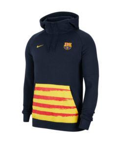 nike fc barcelona fleece hoodie herren navy