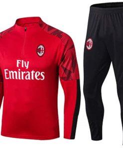 ac mailand trainingsanzug rot schwarz