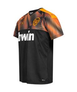 puma fc valencia away trikot herren 19-20 schwarz orange 2