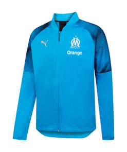 puma olympique marseille trainingstop herren hellblau