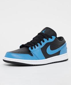 Air Jordan 1 Low Sneaker Herren blau schwarz 1