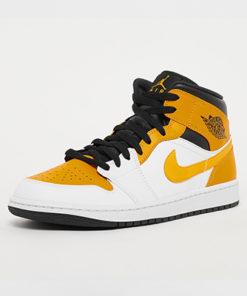 air jordan 1 mid sneaker herren weiss gelb schwarz 1