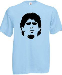 maradona shirt hellblau
