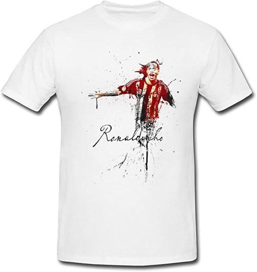 ronaldinho t shirt weiss