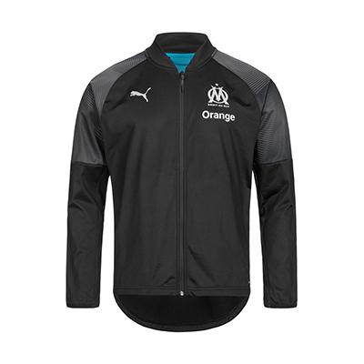 puma olympique marseille trainingsjacke herren schwarz 1