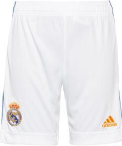 adidas real madrid home shorts 21-22 kinder weiss