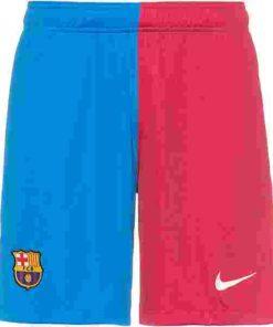 fc barcelona nike home shorts 21-22 kinder