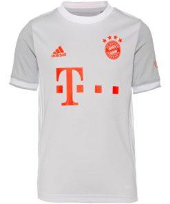 adidas fc bayern münchen trikot away 20-21 kinder hellgrau
