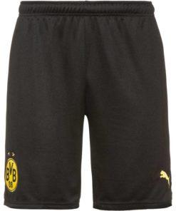puma borussia dortmund shorts home 21-22 herren schwarz